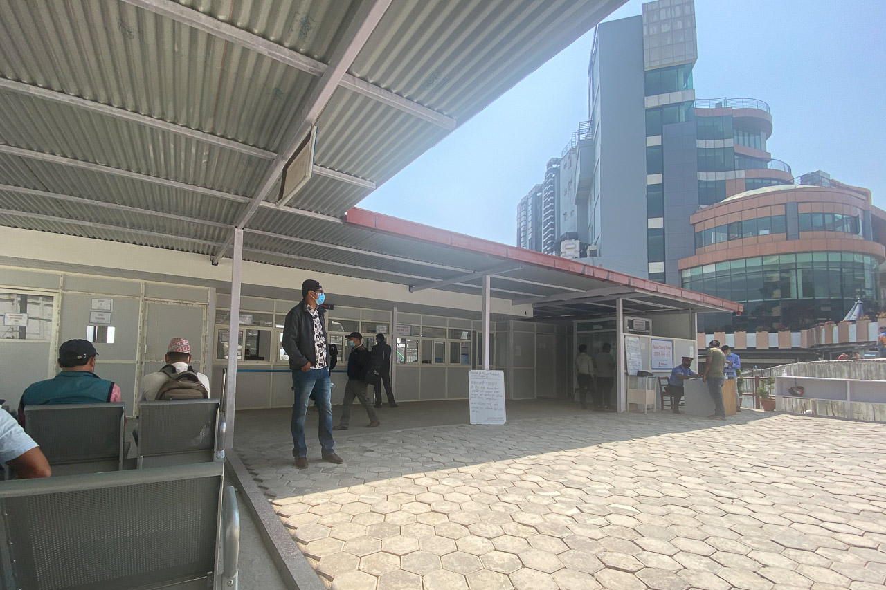 Das Corona-Test-Center im Hams Spital