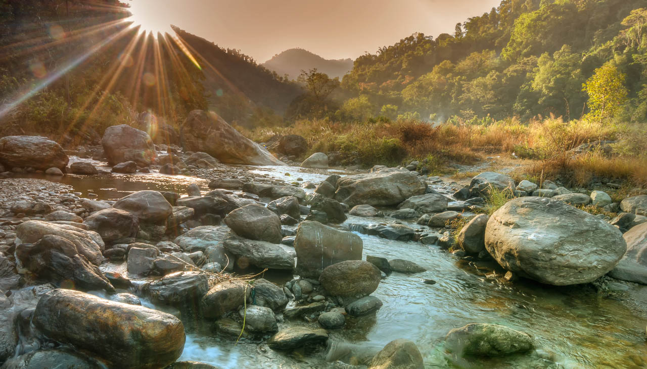 Fluss in Sikkim