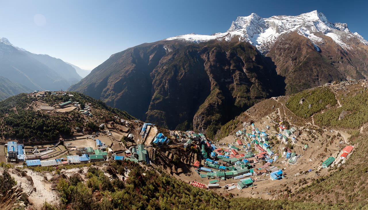Namche Bazar auf dem Weg zum Mount Everest
