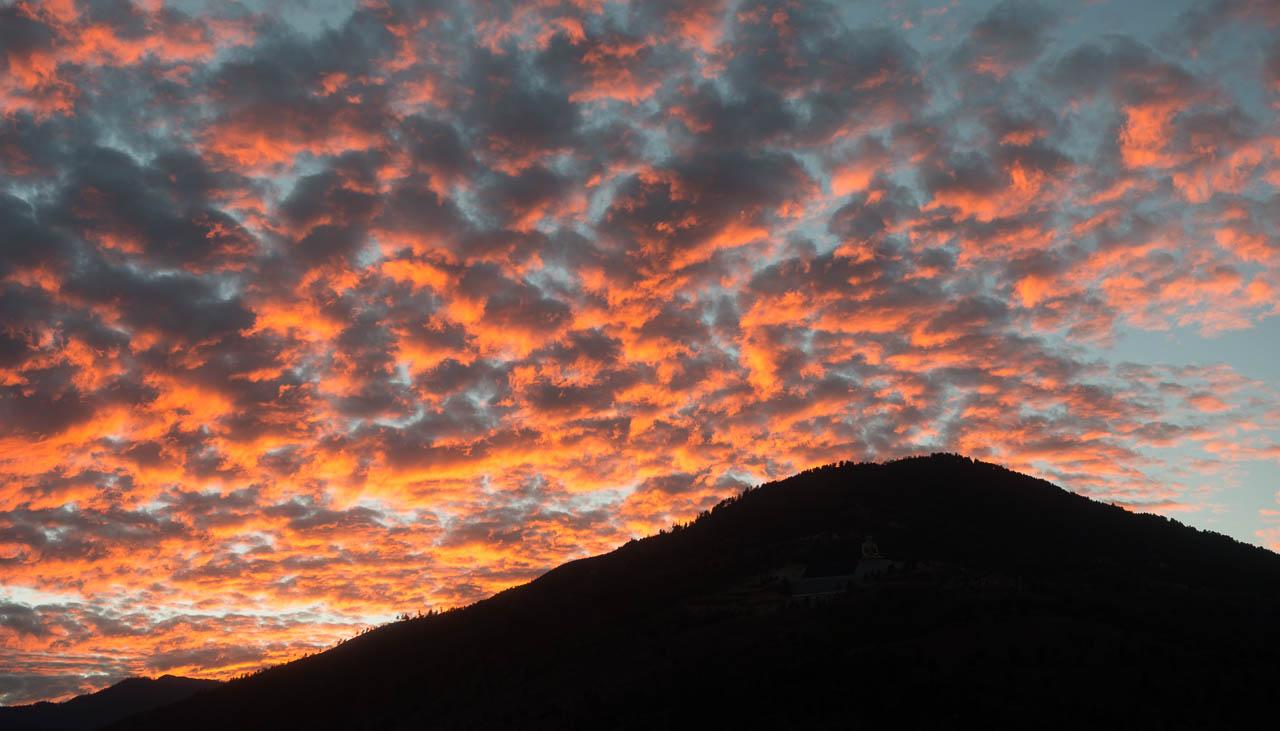 Abendstimmung über Thimphu