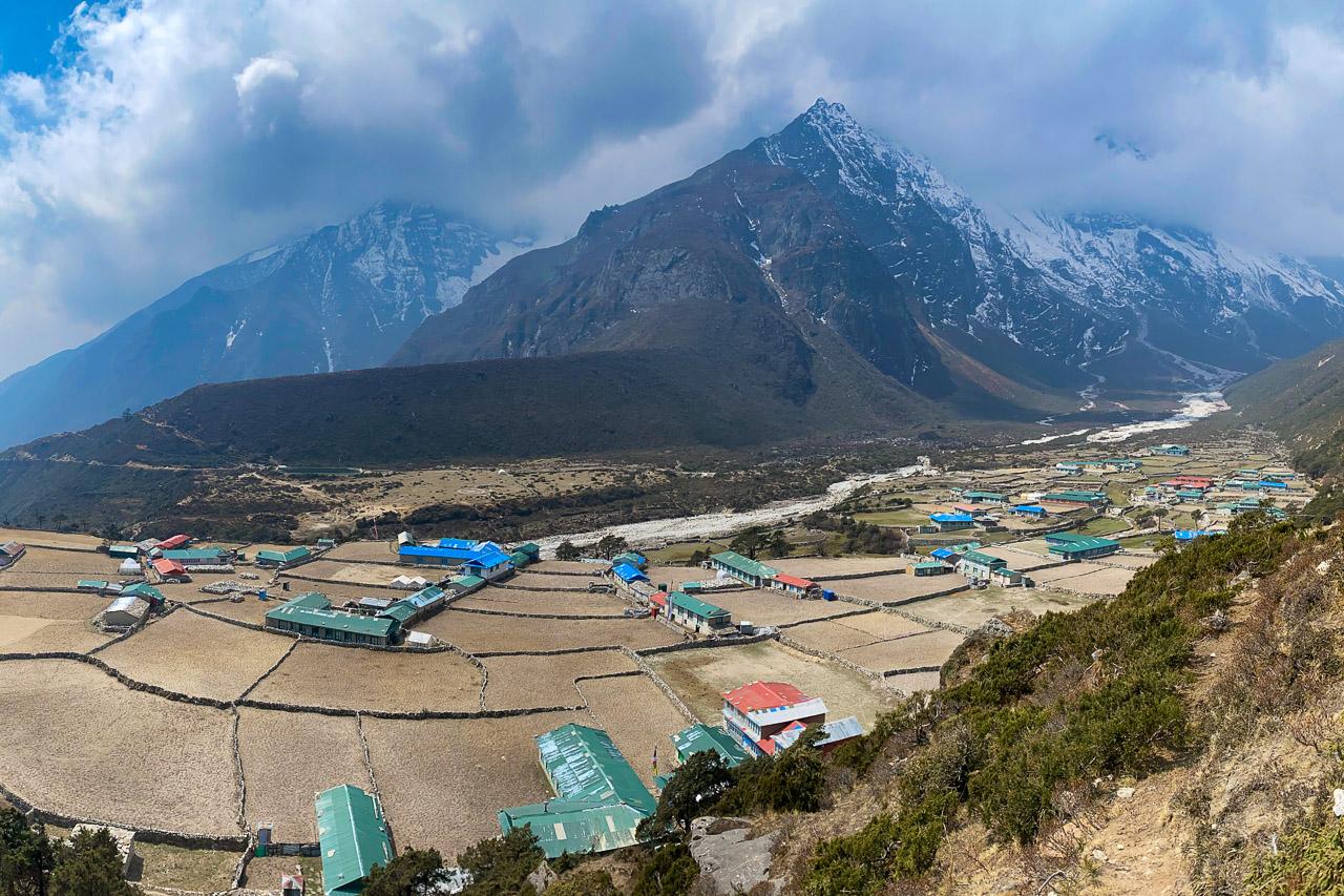 Blick über das Dorf Thame.