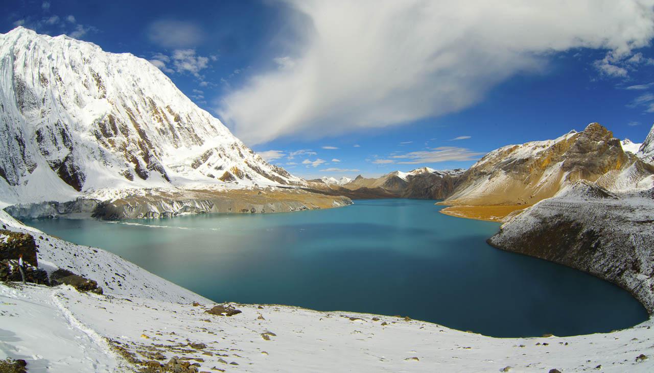 See Tilicho auf 4900 Metern hinter der Annapurna