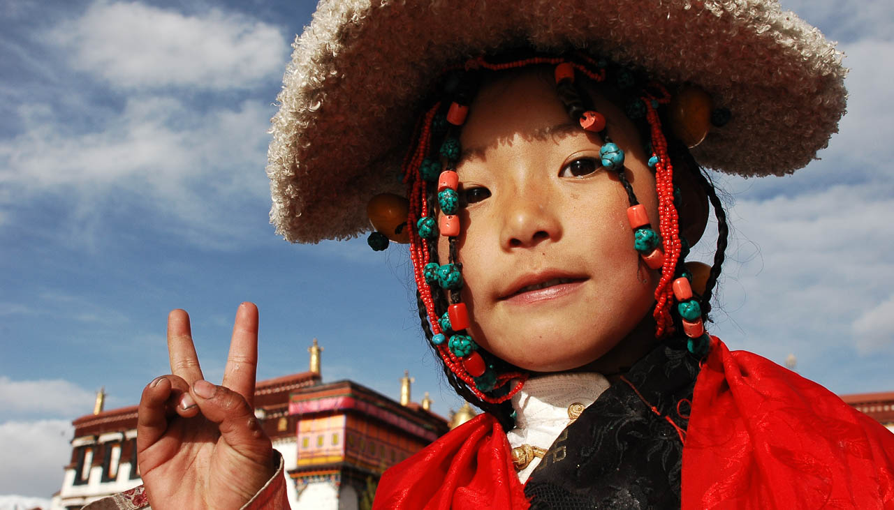 Tibetisches Kind