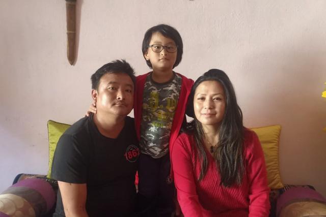 Tsheten Bhutia aus Sikkim ist froh, mit der finanziellen Unterstützung seine Familie über die Runden zu bringen.