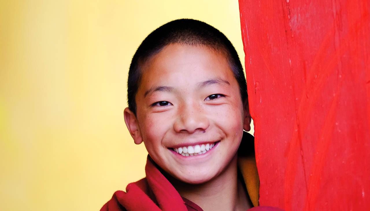 Tibetischer Mönchsnovize