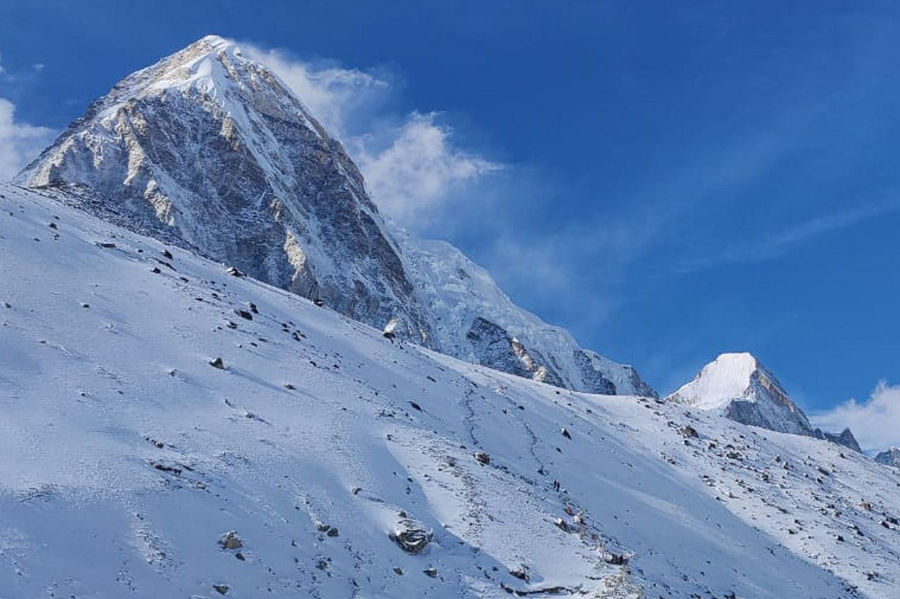 Pumo Ri, ein über 7000 Meter hoher Gipfel im Everest-Massiv.