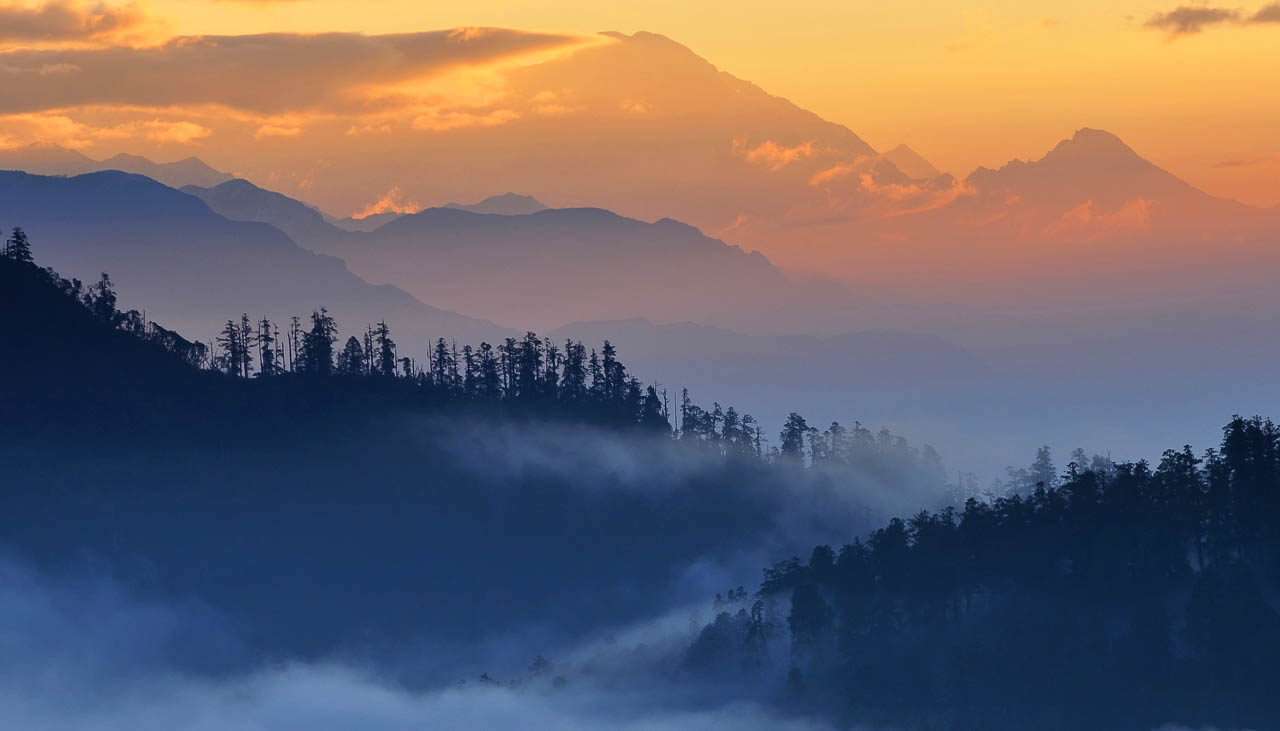Nebelstimmung im Kathmandu-Tal