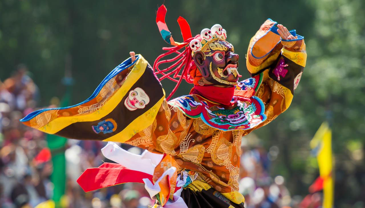 Paro Festival - das grösste Klosterfest in Bhutan