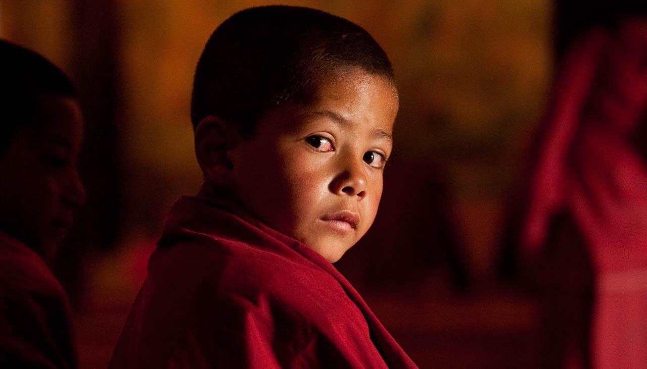 Junger Mönch im Kloster Thikse
