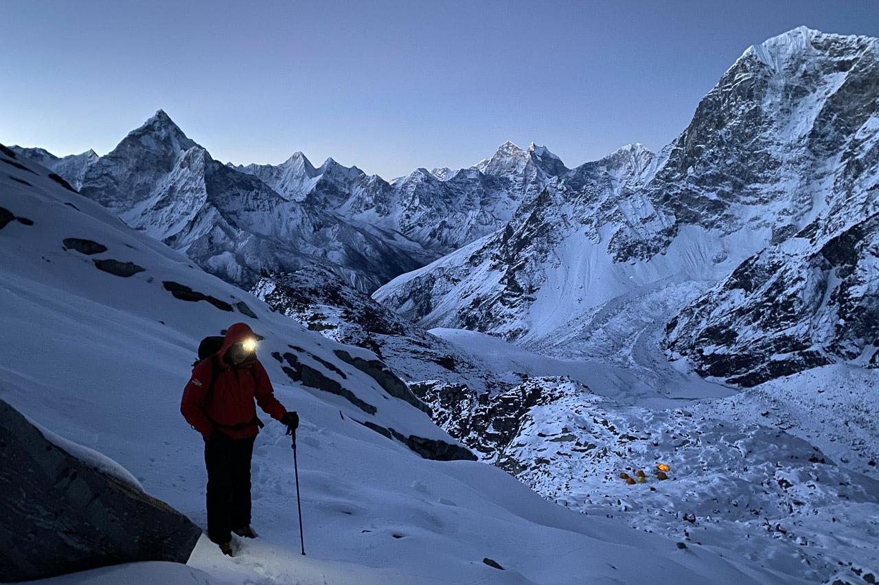 Mein nepalesischer Freund Kami ist bei der Besteigung mit dabei.