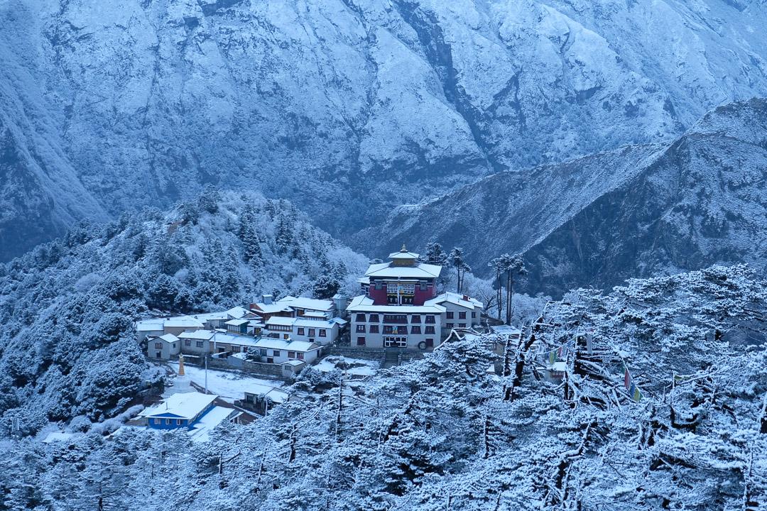 Das berühmte Kloster Tengboche, hier frisch verschneit