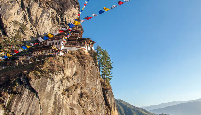Reise nach Bhutan, Tigernest-Kloster über dem Paro-Tal