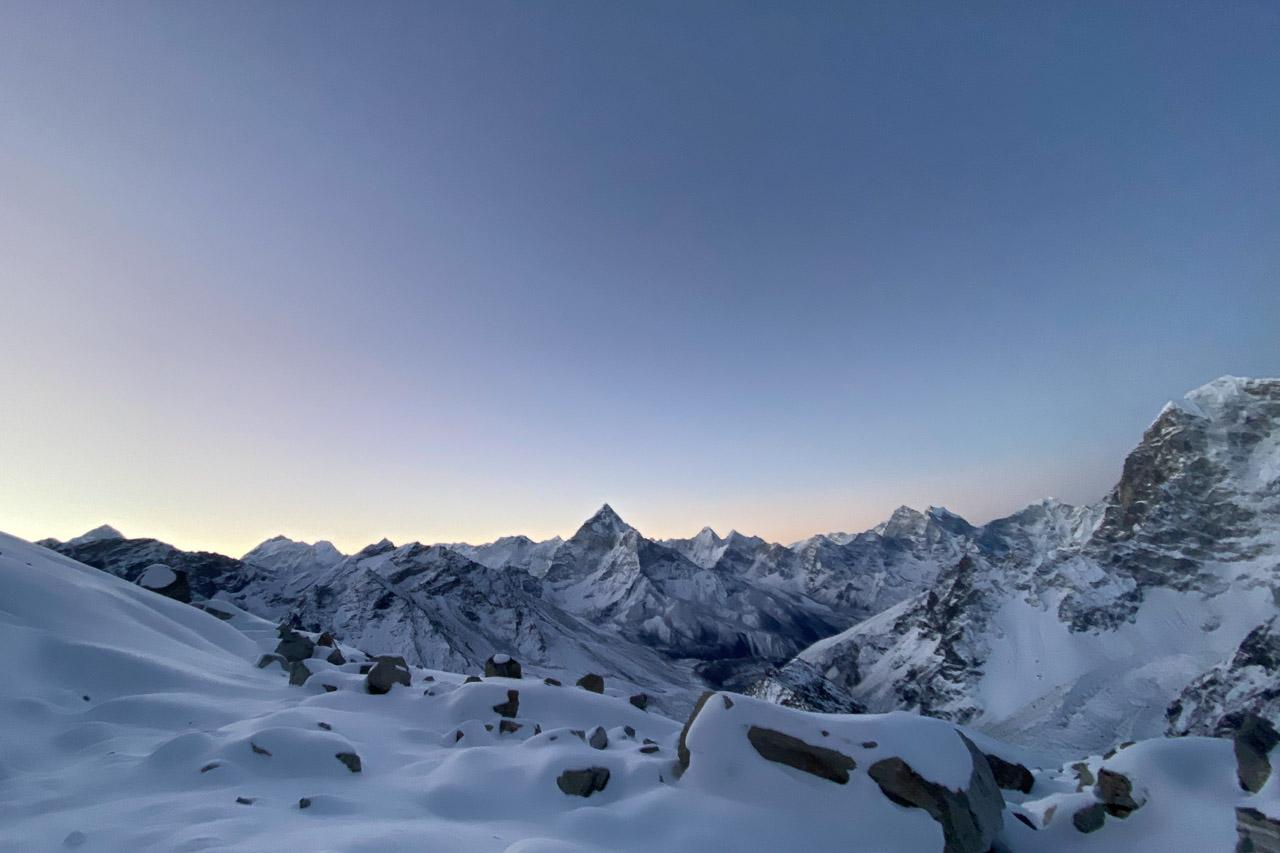 Ein kalter, aber schöner Morgen bricht an.