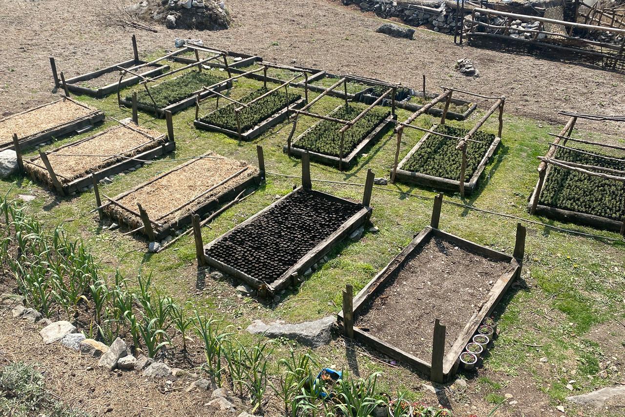 Es ist Frühling und die Gärten werden bestellt.