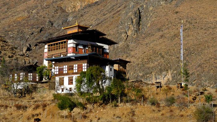 Traditionelle Bauweise in Bhutan