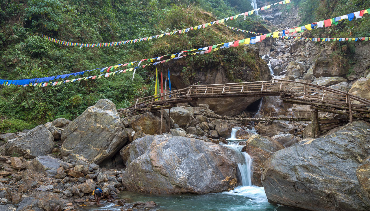 Holzbrücke in Sikkim