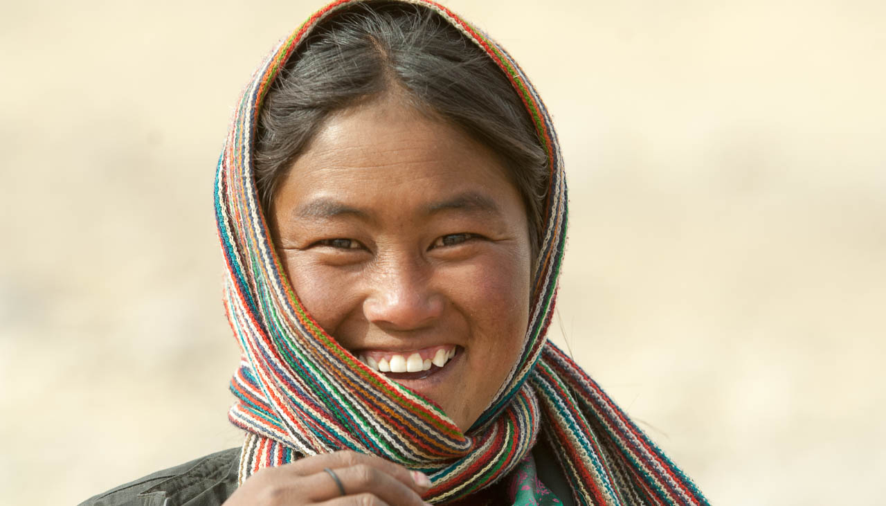 Nomadenfrau in Ladakh