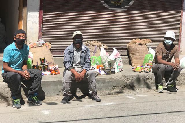 In Ladakh gilt zurzeit eine Maskenpflicht.