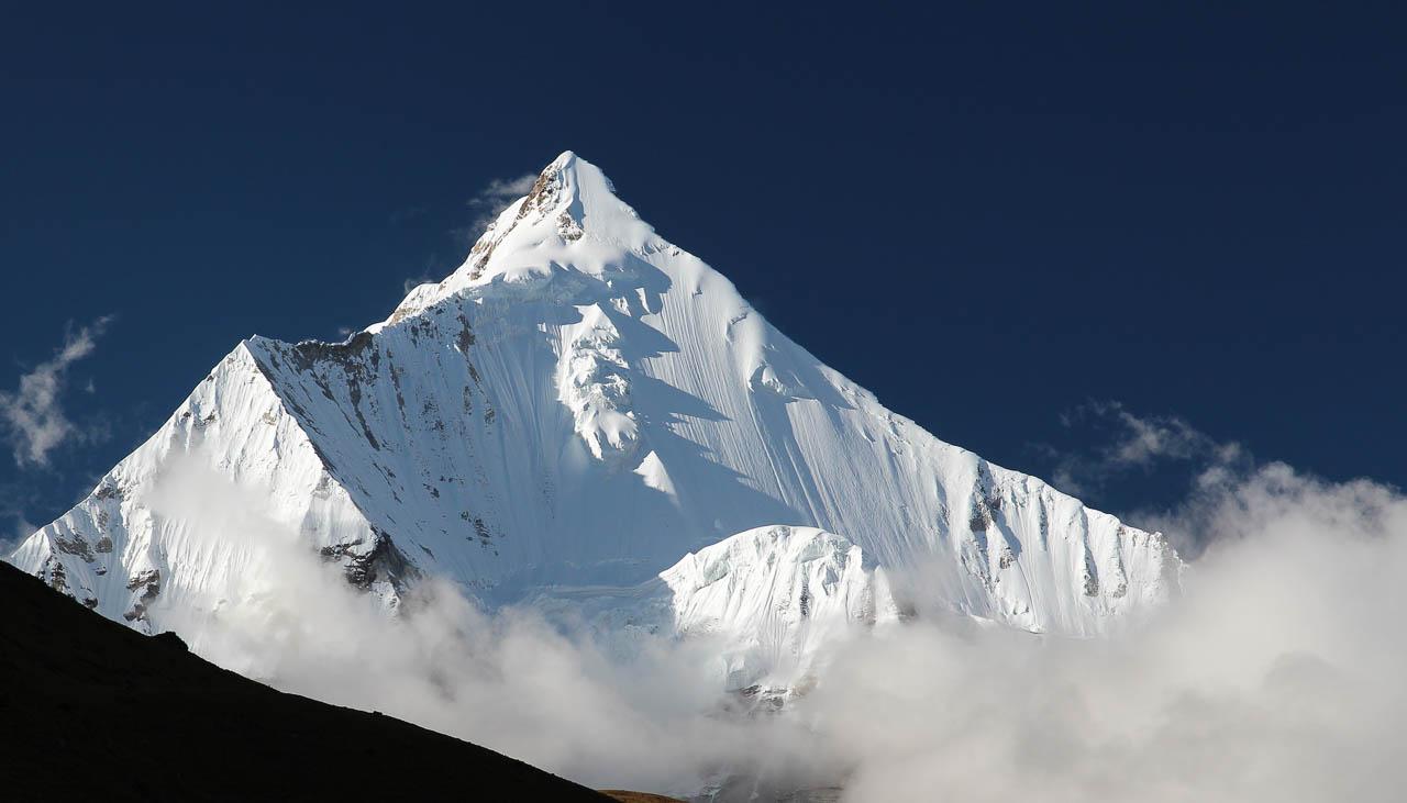 Heiliger Berg Jomolhari in Bhutan