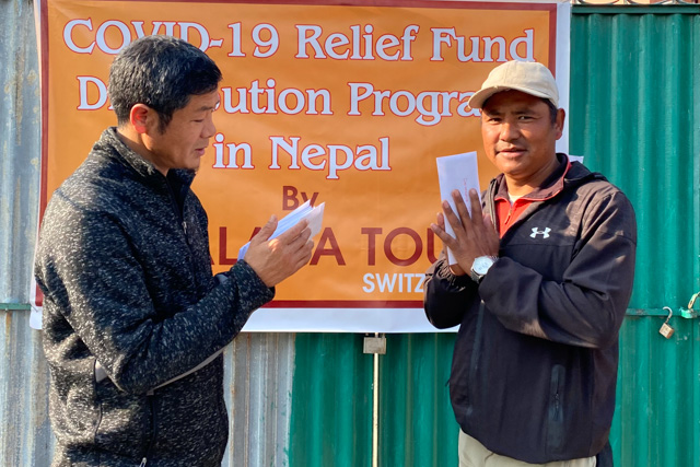 Unsere Crew in Nepal bedankt sich sehr für das «Corona-Kurzarbeitsgeld».