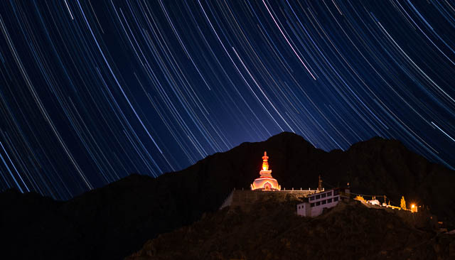 Kultur und Wandern in Ladakh und Bhutan, Shanti Stupa in Leh