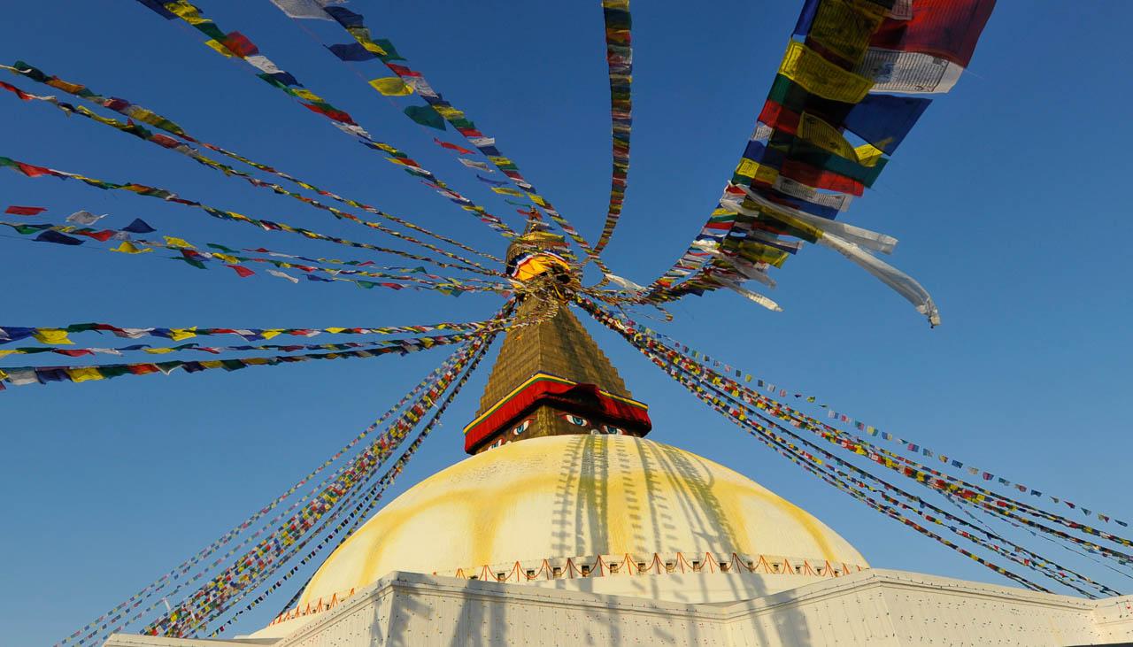Grosse Stupa von Bodnath in Kathmandu