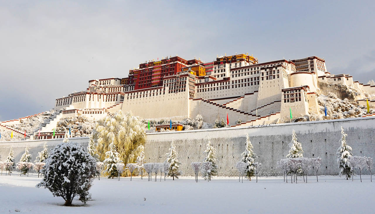 Lhasa im Winter