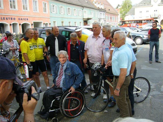 Start in Stainz: Viele Sportlegenden waren gekommen - Otto Wanz, Rudi Mitteregger, Egon Saletiger, Fredl Zach, Werner Gaich, Heinz Volnhals und Richard Schier