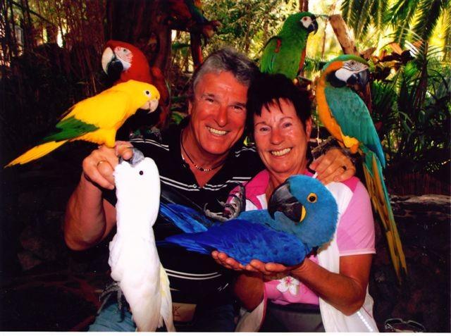 Peter und Ingrid im Palmitos-Park auf Gran Canaria