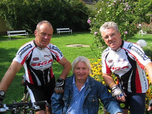 2. Tour de Lourdes 2008 - v.l.n.r.Manfred Zernig, Hans Lechner, Peter Reicher