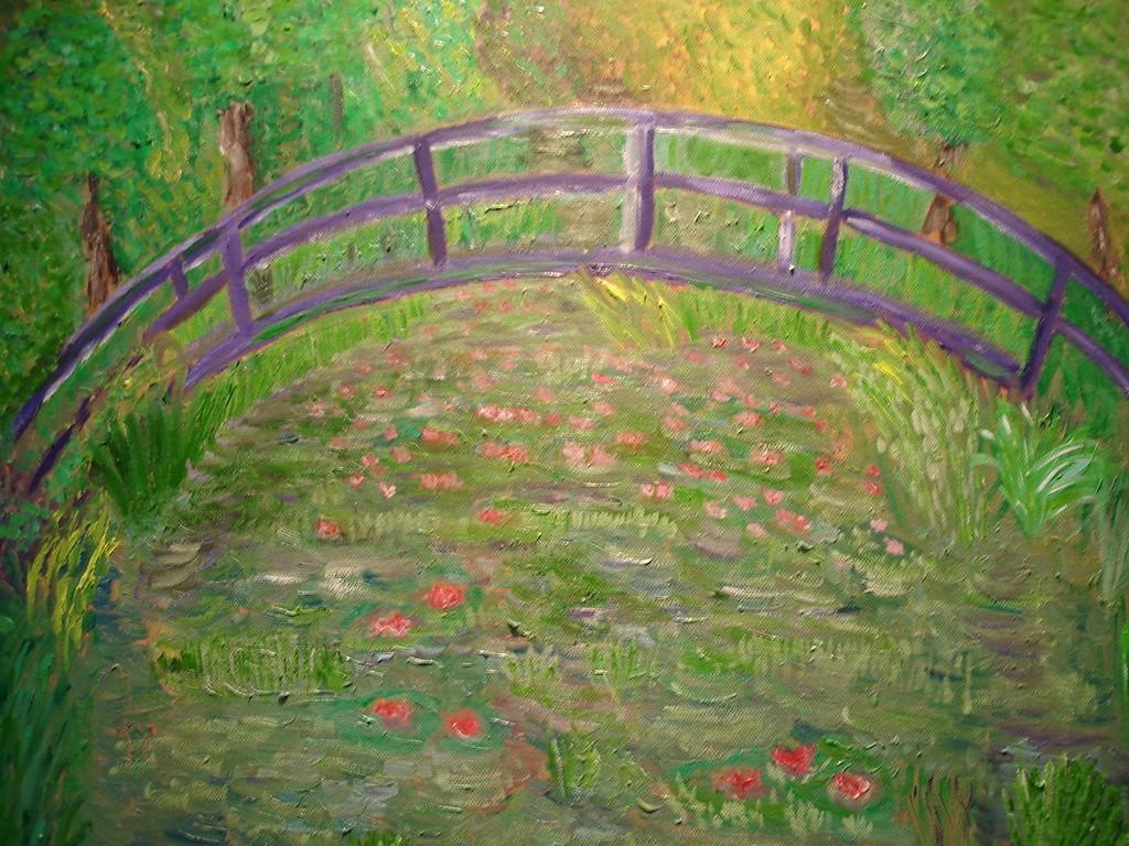 Die Brücke 2, frei nach Monet von Anne Bremsat