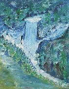 Canadian Waterfall, oil on canvas by Jana Paul
