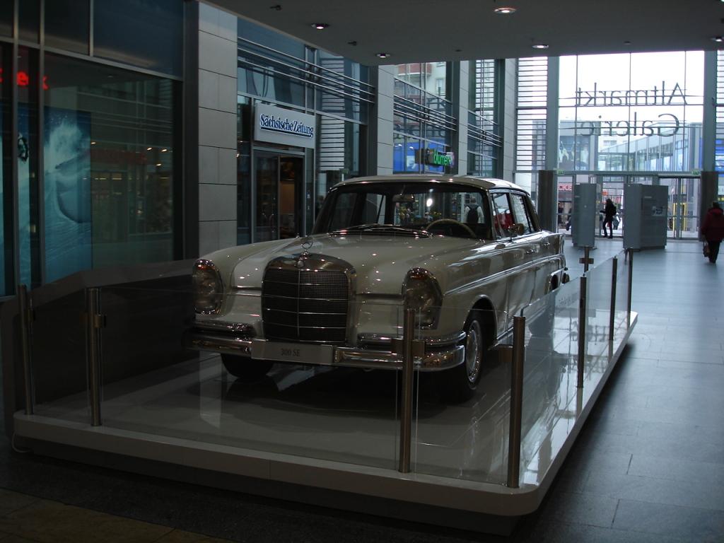 Car exhibition in a shopping center