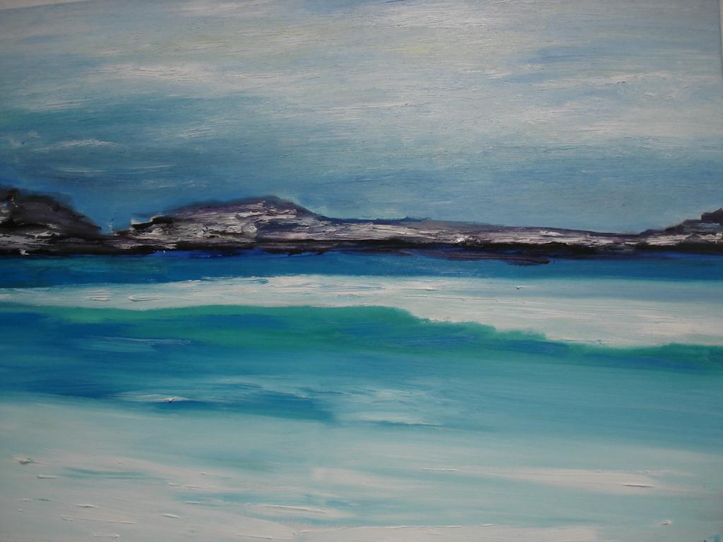 Südseeimpression 1 von Jana Paul, Öl auf Leinwand