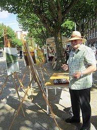 RODO der Maler - Rolf Domagala malt auf dem Saporishja-Platz