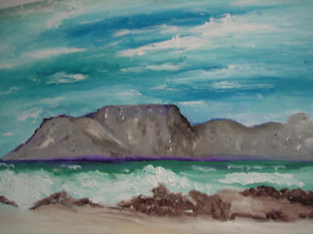 Südseeimpression 2 von Jana Paul, Öl auf Leinwand