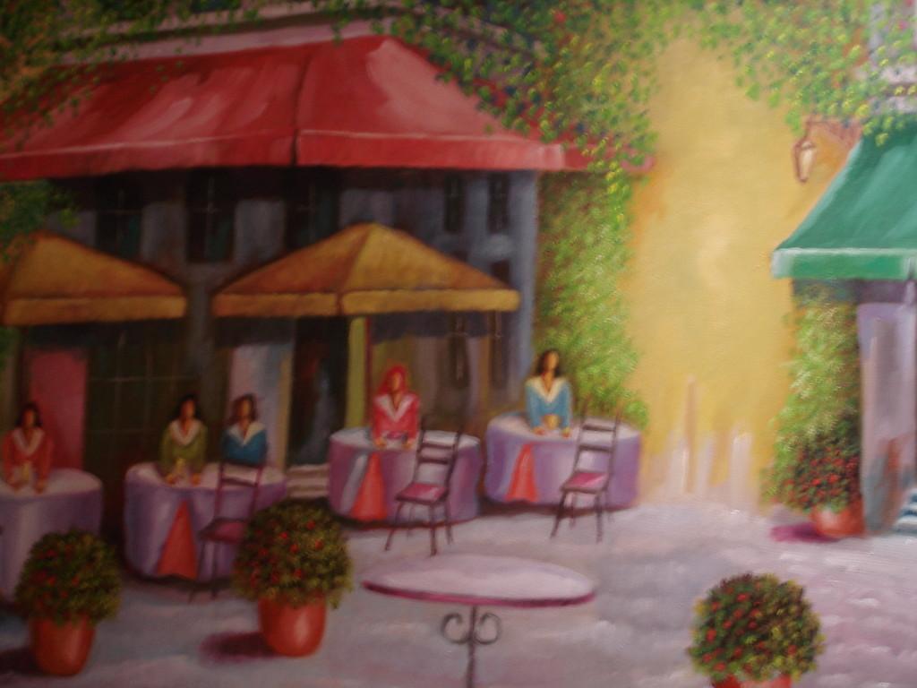 Menschen im Café von K. H. Brück