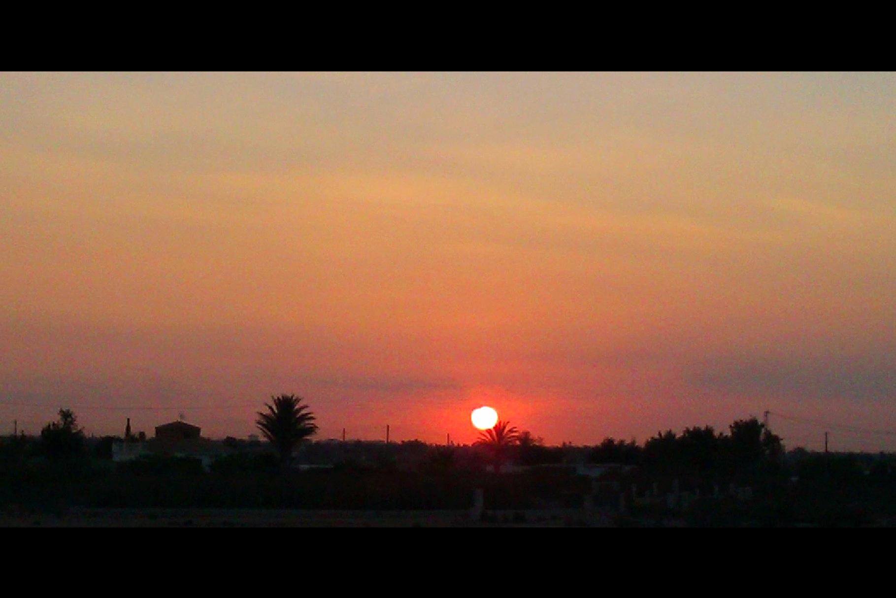 Romantischer Sonnenaufgang