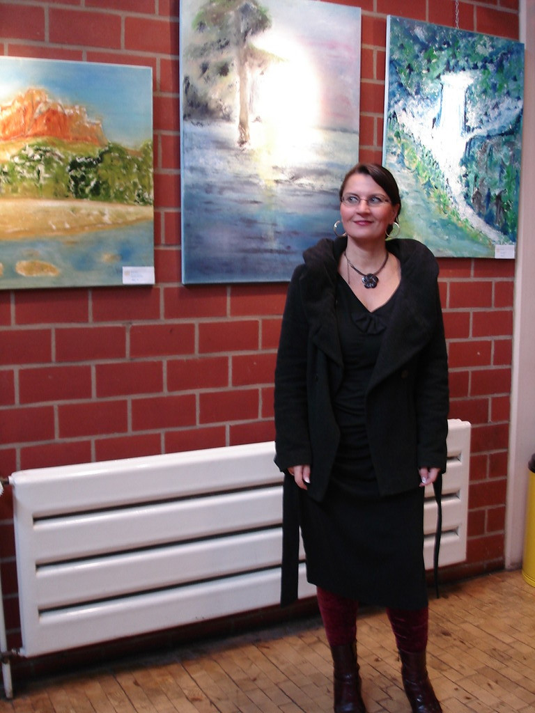 Jana Paul: Halbabstrakte Traumlandschaften, Arizona Morning, Lonely Cypress, Canadian Waterfall