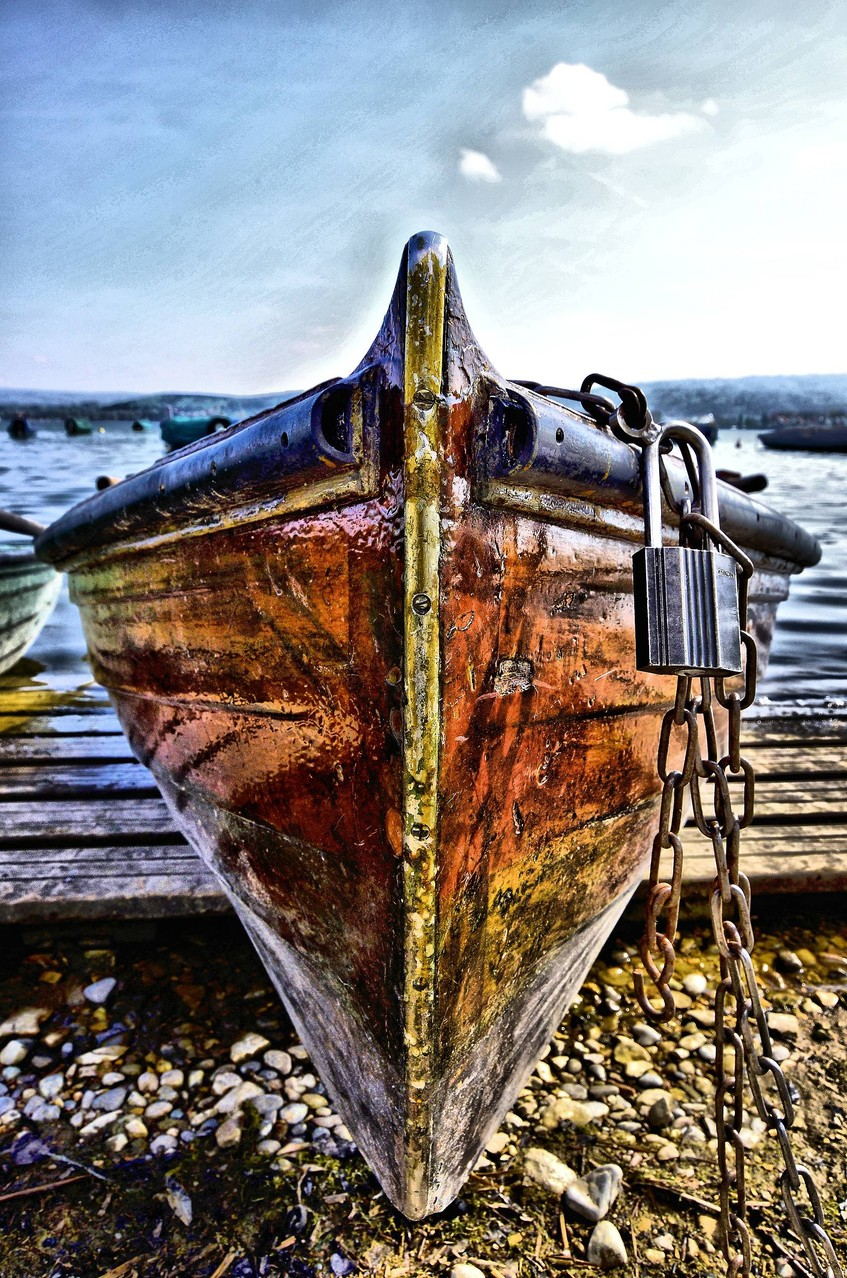 Ruderboot am Untersee