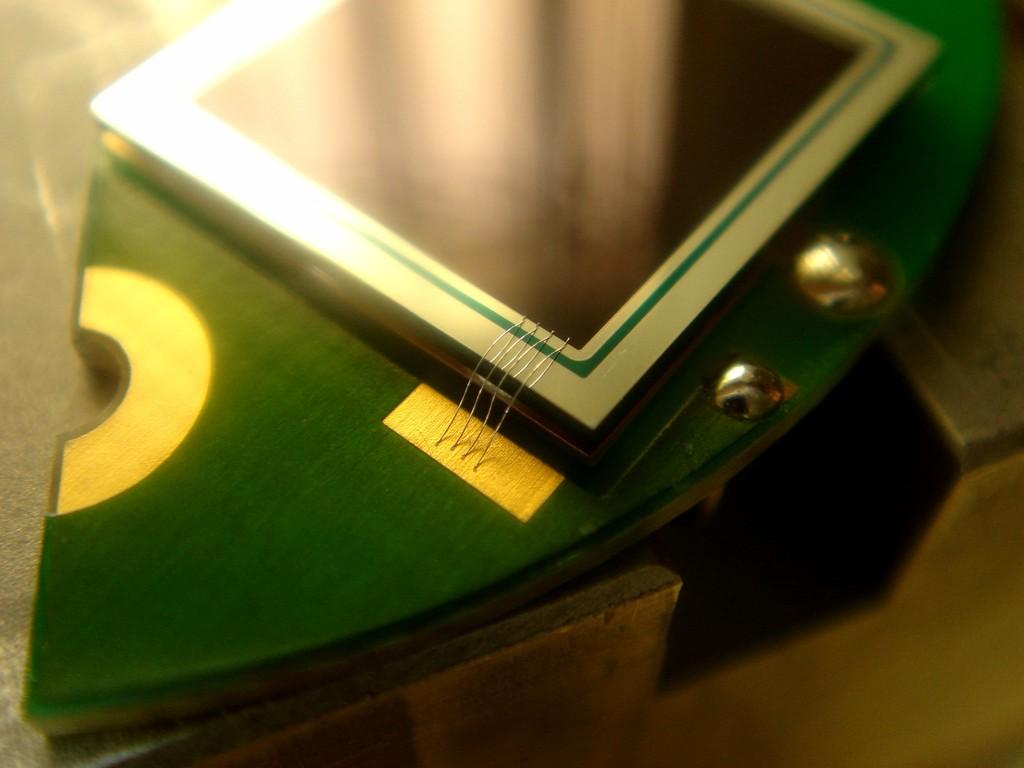 Photodiodenarray für Mössbauerspektrometer