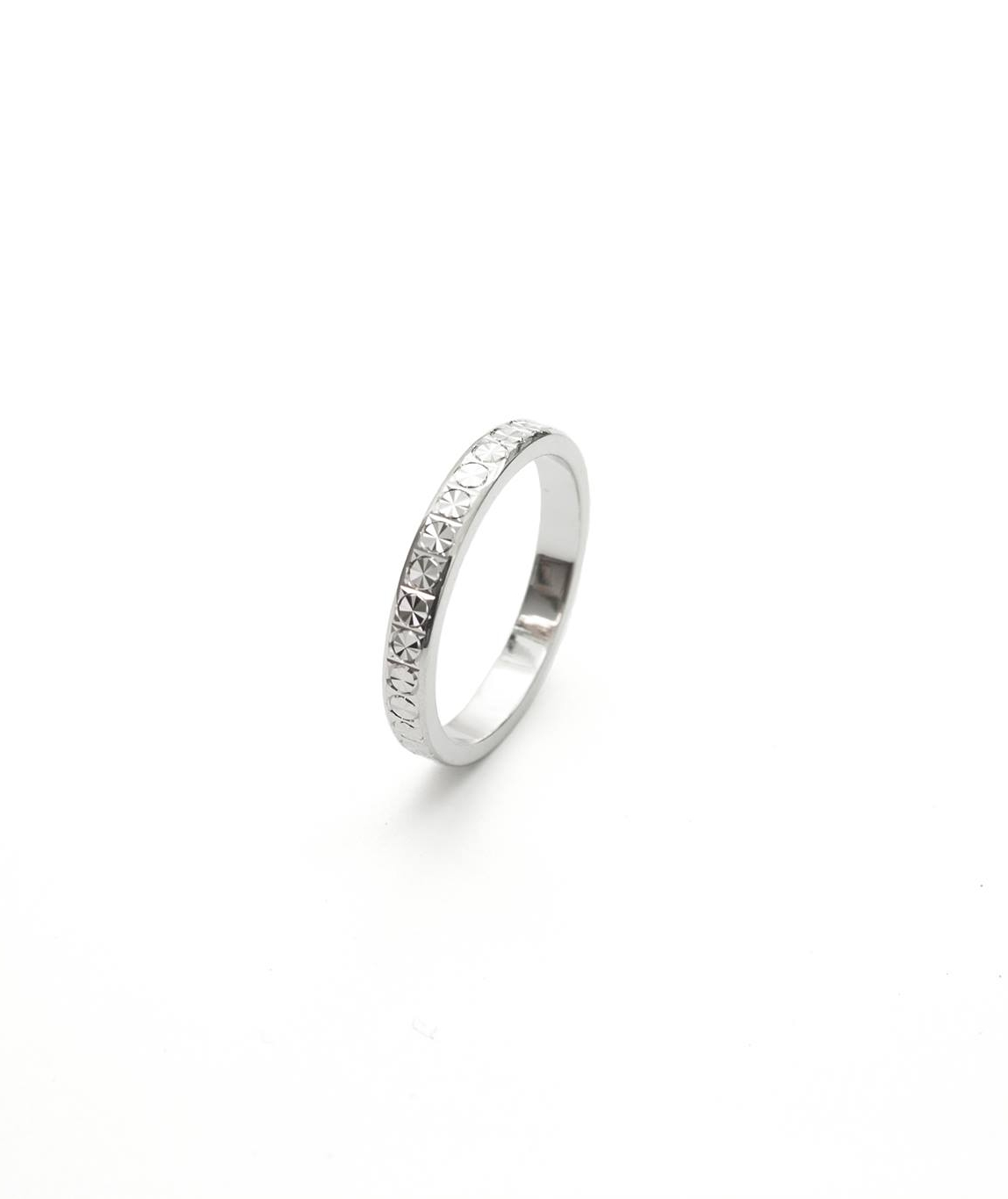 Alliance Diamond Cut en or blanc 14K