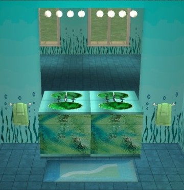 Meubles de salle de bains bathroom counters les sims2coccinel75 - Meuble de salle de bain turquoise ...