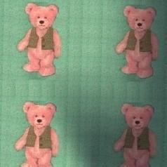 2  Moquette oursons sur fond vert