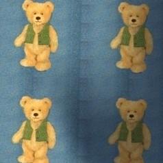3  Moquette oursons sur fond bleu
