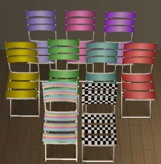 Recolorations Chaises Plastico