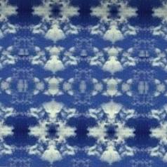 2 Moquette bleue motifs blancs