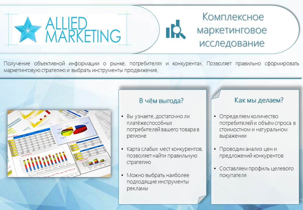 "Презентация для рекламного агентства ""Эллайд Маркетинг"""