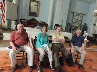 Our team of poets for the reading in Canaan Historical Society