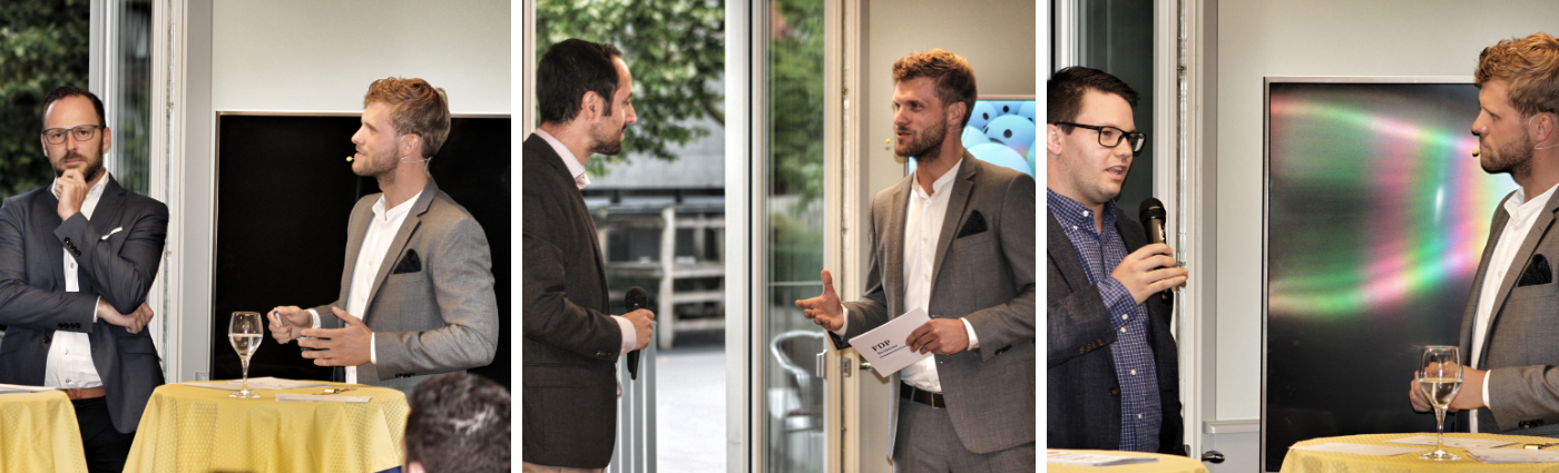 Moderator Thomas Odermatt moderiert Kandidatentalks der FDP Baar
